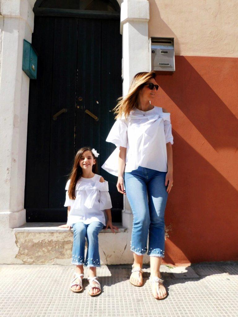 vestiti mamma e figlia uguali